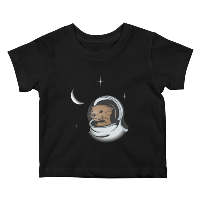 Otter Space Kids Baby T-Shirt by BrainMatter's Artist Shop
