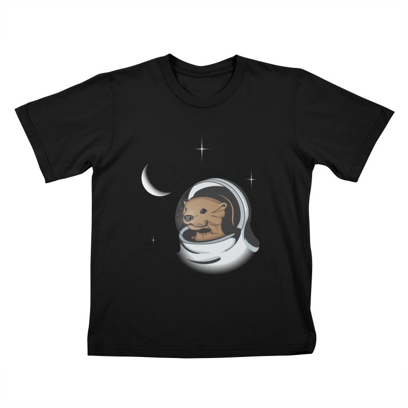Otter Space Kids T-shirt by BrainMatter's Artist Shop