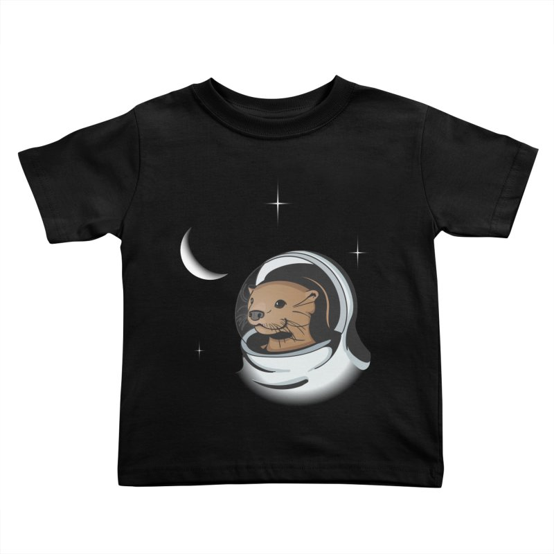 Otter Space Kids Toddler T-Shirt by BrainMatter's Artist Shop