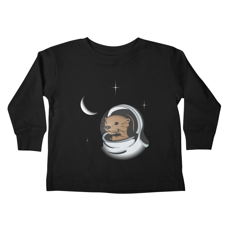 Otter Space Kids Toddler Longsleeve T-Shirt by BrainMatter's Artist Shop