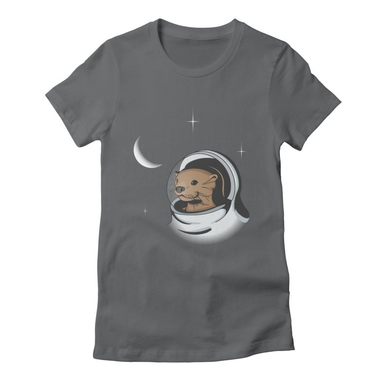 Otter Space Women's Fitted T-Shirt by BrainMatter's Artist Shop
