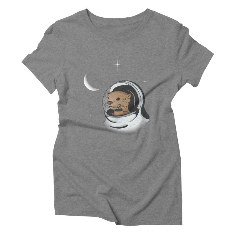 Otter Space Women's Triblend T-Shirt by BrainMatter's Artist Shop