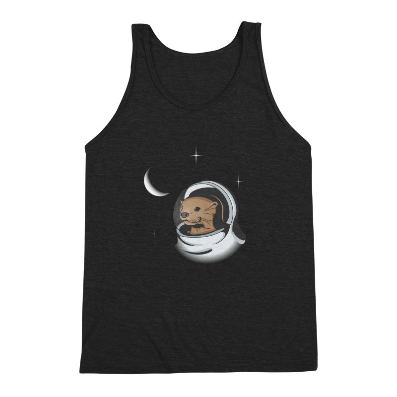 Otter Space Men's Triblend Tank by BrainMatter's Artist Shop