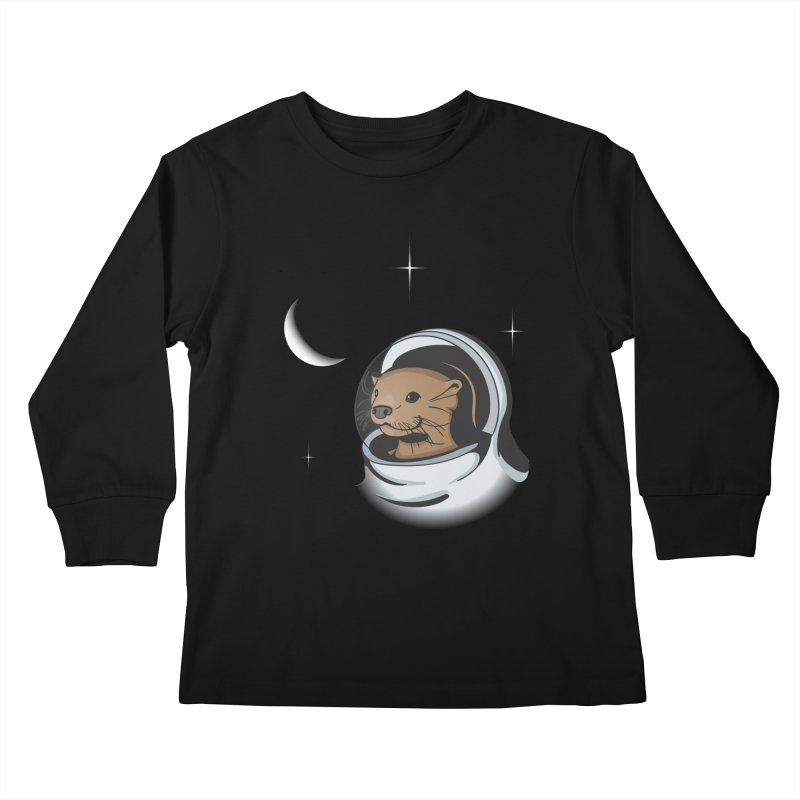 Otter Space Kids Longsleeve T-Shirt by BrainMatter's Artist Shop
