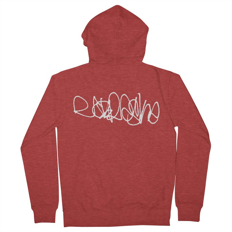 nebraska (graffiti font) Men's Zip-Up Hoody by Brick Alley Studio's Artist Shop