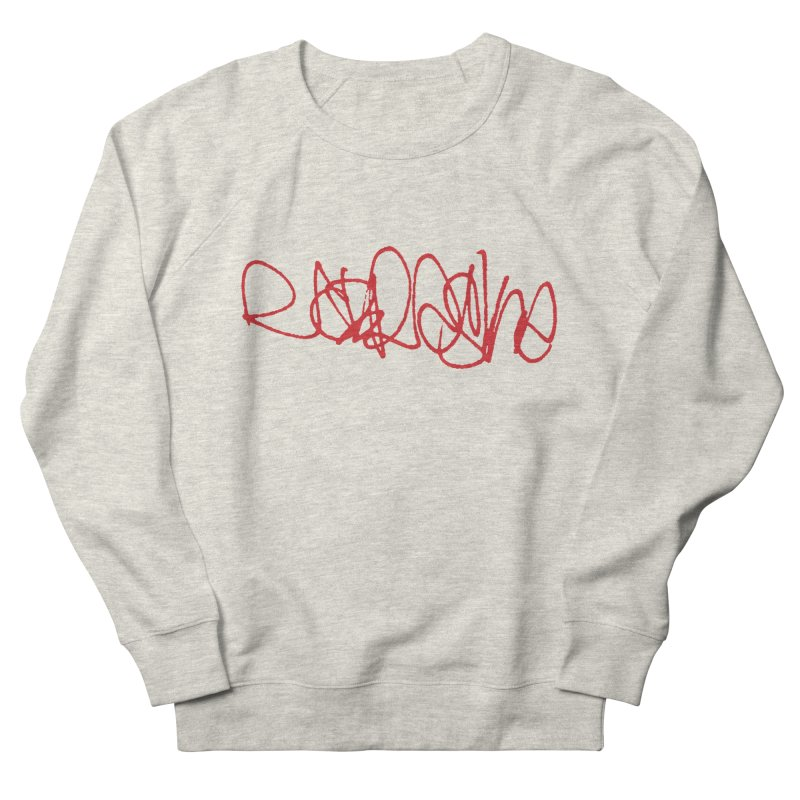nebraska_red (graffiti font) Men's Sweatshirt by Brick Alley Studio's Artist Shop