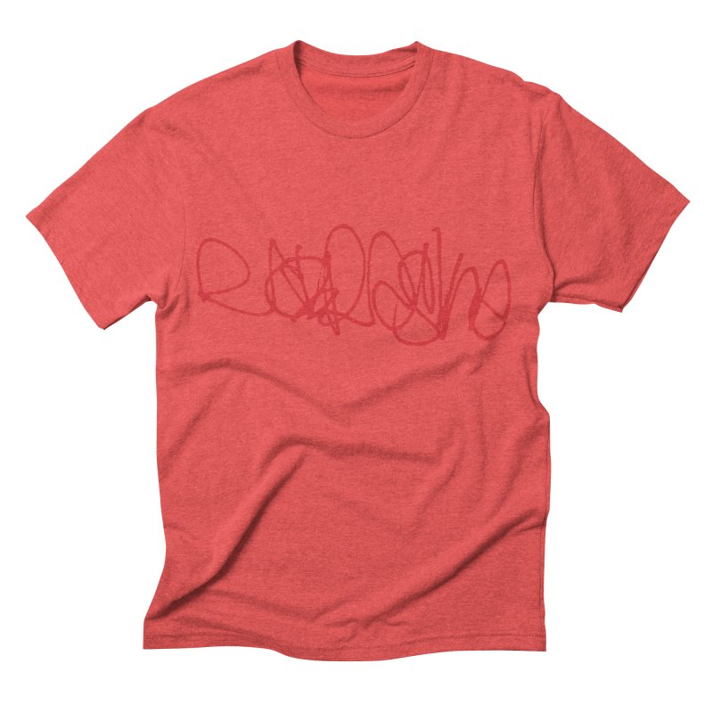 nebraska_red (graffiti font) Men's Triblend T-shirt by Brick Alley Studio's Artist Shop