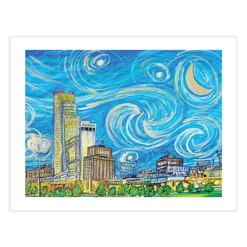 A Starry Night in Omaha Sky Home Fine Art Print by Brick Alley Studio's Artist Shop