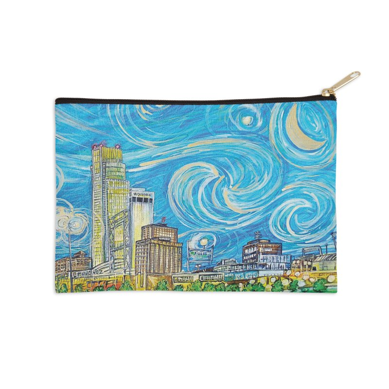 A Starry Night in Omaha Sky Accessories Zip Pouch by Brick Alley Studio's Artist Shop