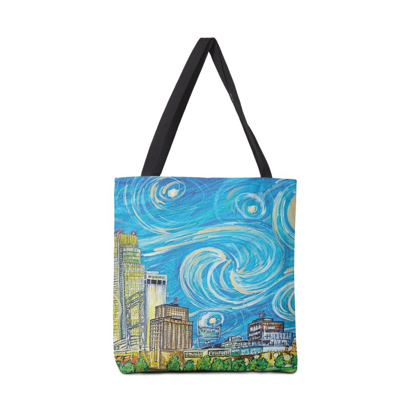 A Starry Night in Omaha Sky Accessories Bag by Brick Alley Studio's Artist Shop