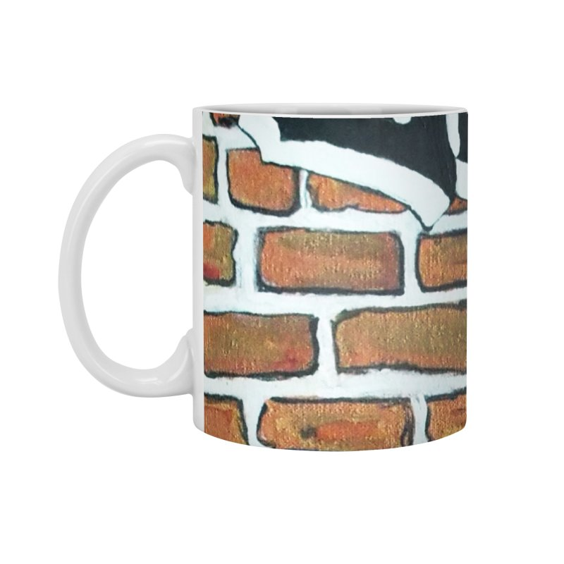 Brick Wall Omaha Oil Painting Accessories Mug by Brick Alley Studio's Artist Shop