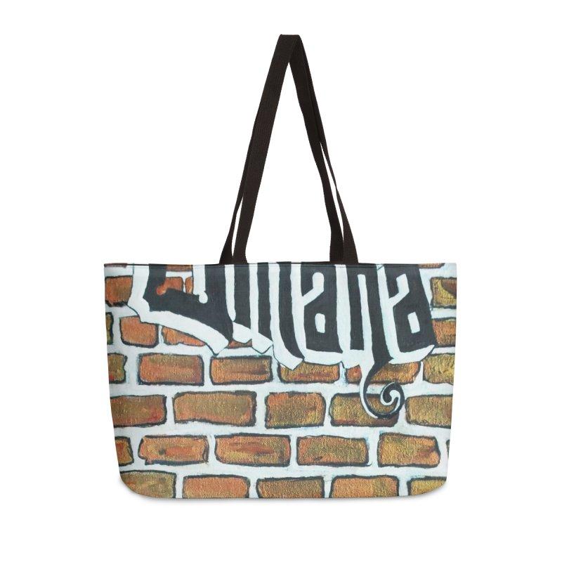 Brick Wall Omaha Oil Painting Accessories Weekender Bag Bag by Brick Alley Studio's Artist Shop
