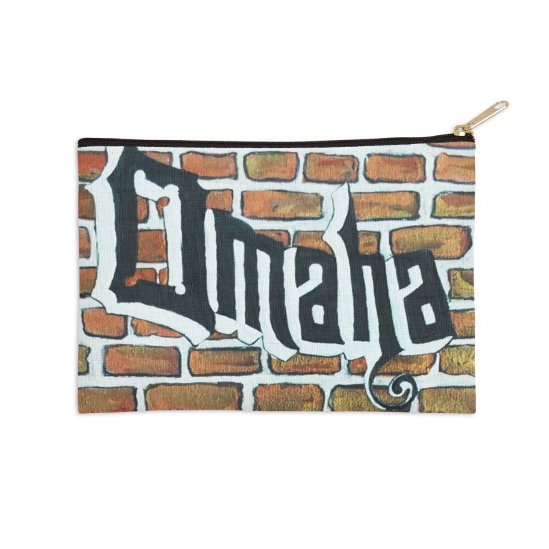 Brick Wall Omaha Oil Painting Accessories Zip Pouch by Brick Alley Studio's Artist Shop