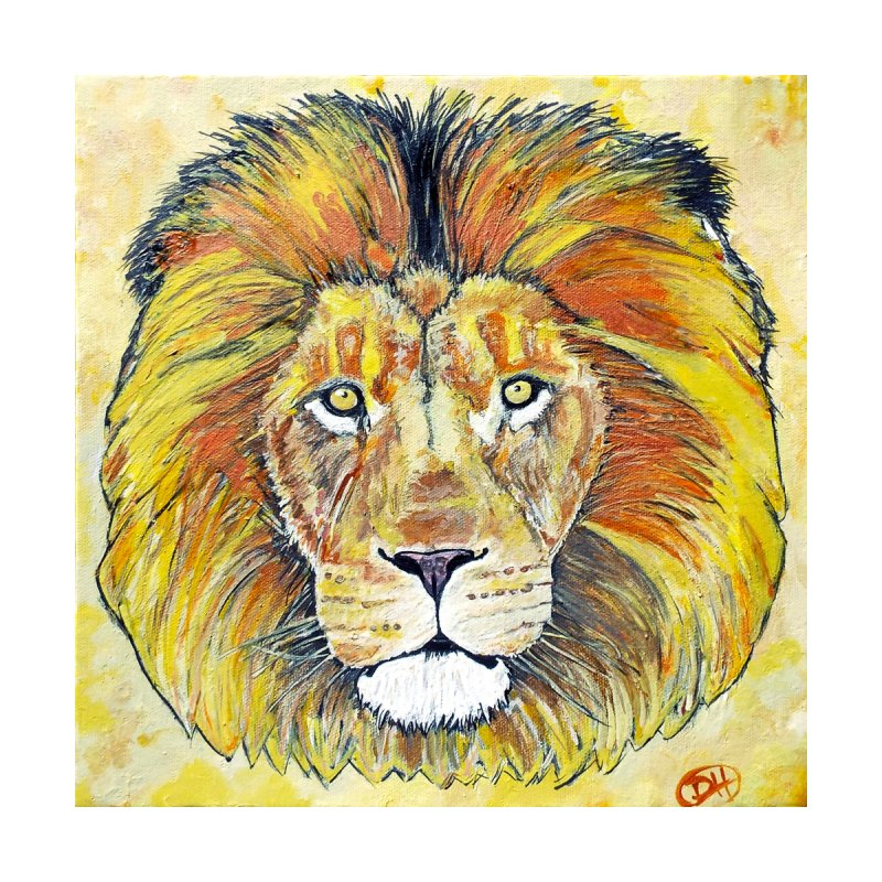 Lion Oil Painting   by Brick Alley Studio's Artist Shop