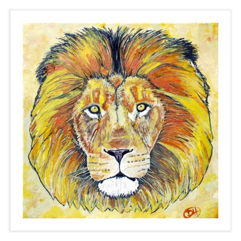 Lion Oil Painting Home Fine Art Print by Brick Alley Studio's Artist Shop