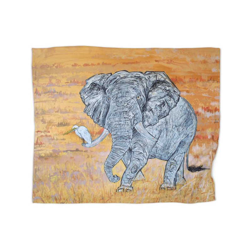 Friend of Egret Home Blanket by Brick Alley Studio's Artist Shop