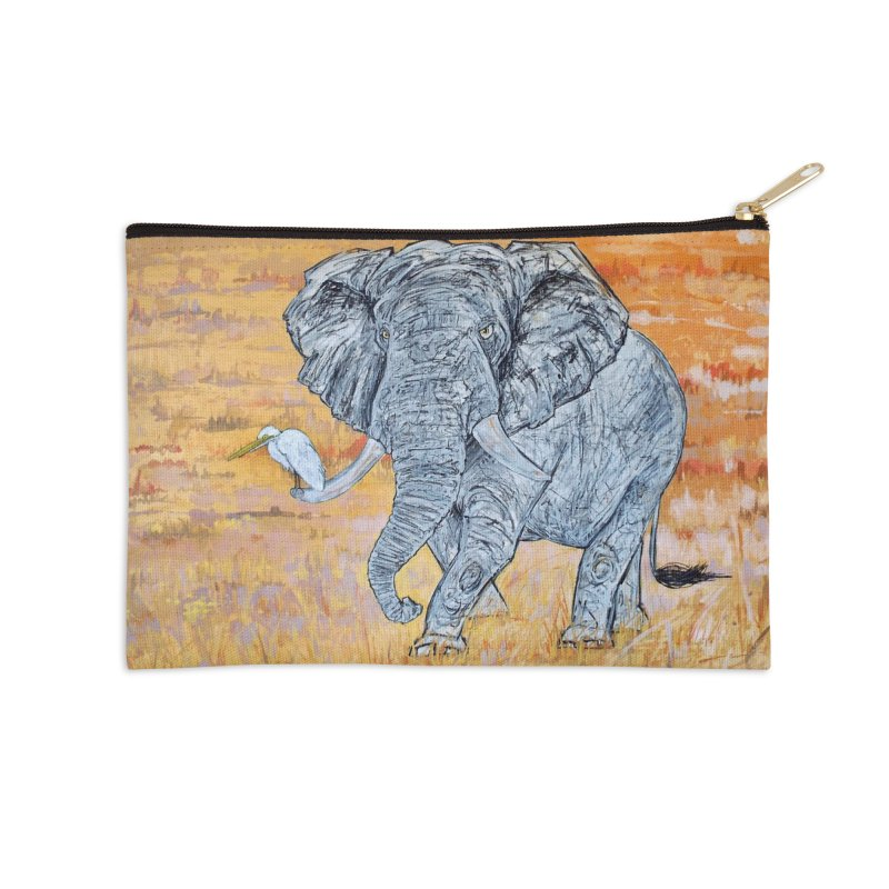Friend of Egret Accessories Zip Pouch by Brick Alley Studio's Artist Shop