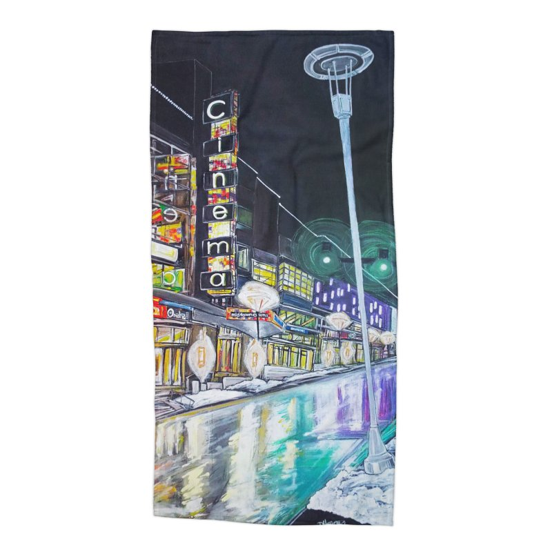 Farnam Reflecting Midtown Accessories Beach Towel by Brick Alley Studio's Artist Shop