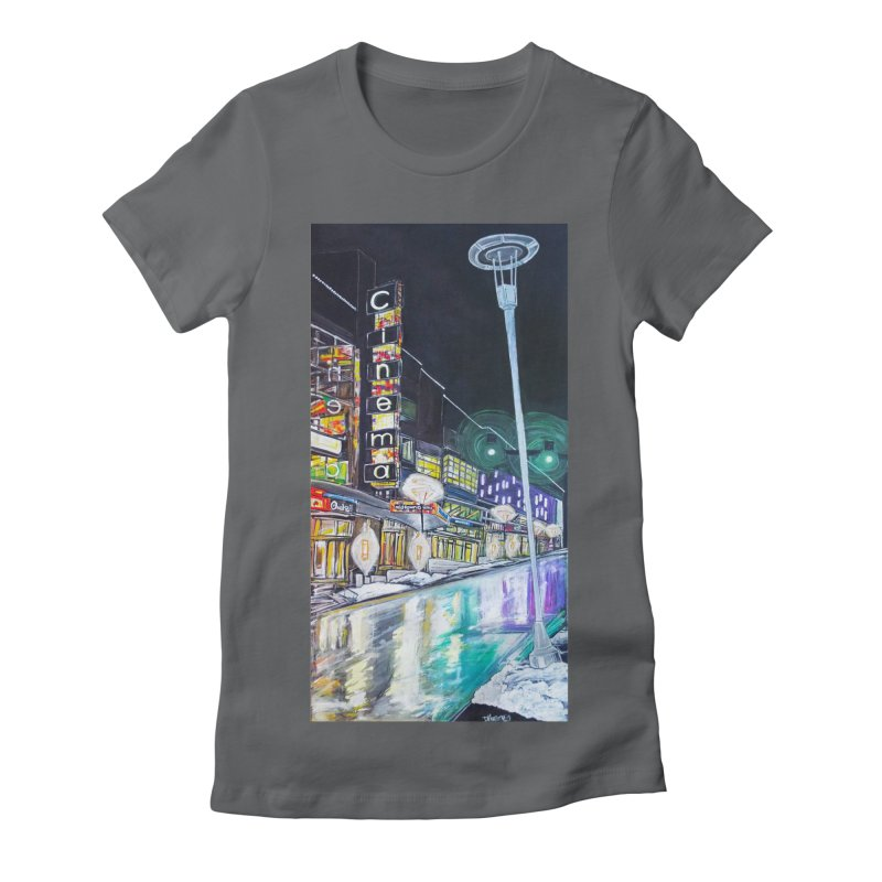 Farnam Reflecting Midtown Women's Fitted T-Shirt by Brick Alley Studio's Artist Shop