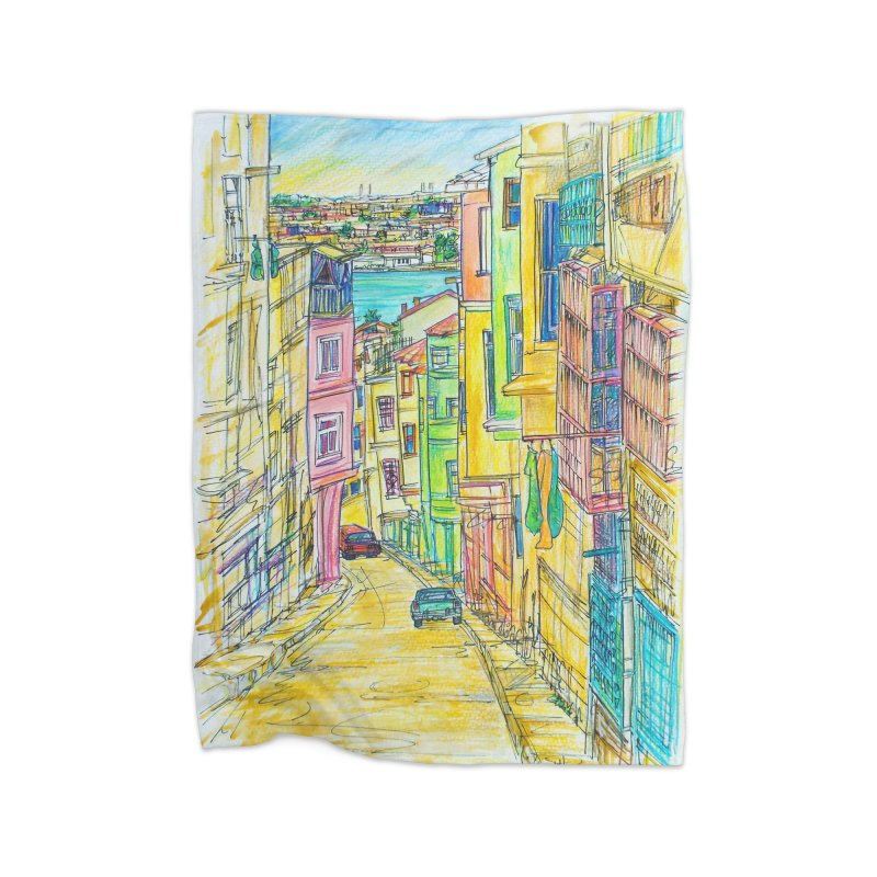 Santiago Cuba Streets Home Blanket by Brick Alley Studio's Artist Shop