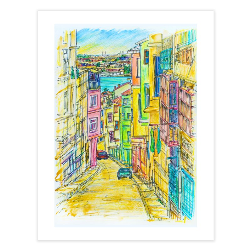 Santiago Cuba Streets Home Bath Mat by Brick Alley Studio's Artist Shop
