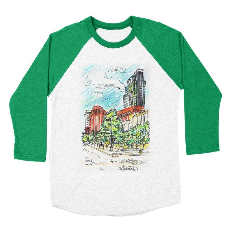 14th and Farnam Men's Baseball Triblend T-Shirt by Brick Alley Studio's Artist Shop