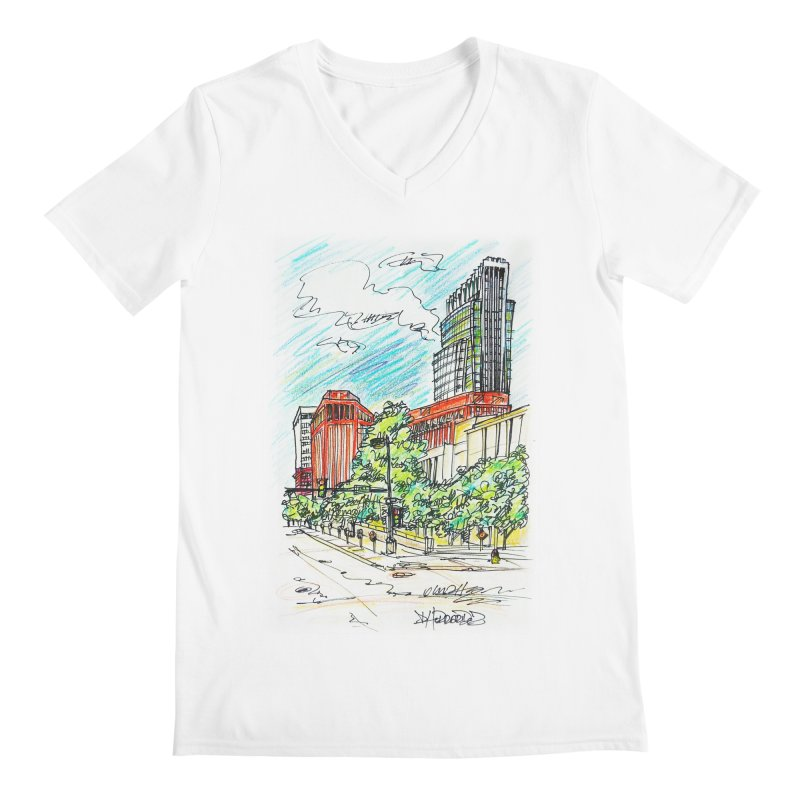 14th and Farnam Men's V-Neck by Brick Alley Studio's Artist Shop