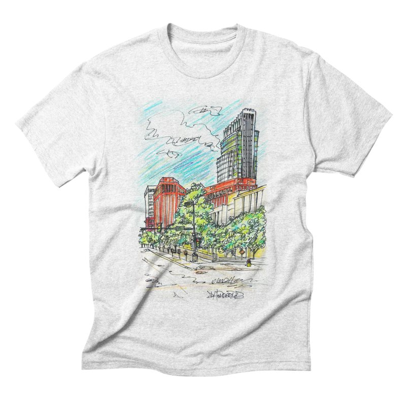 14th and Farnam Men's Triblend T-shirt by Brick Alley Studio's Artist Shop