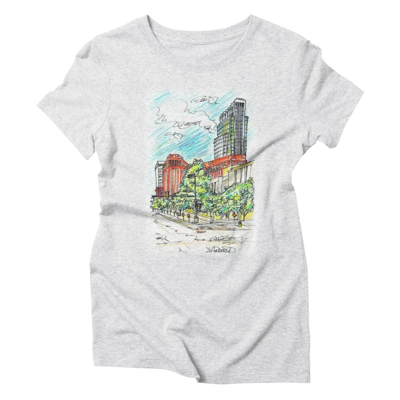 14th and Farnam Women's Triblend T-shirt by Brick Alley Studio's Artist Shop