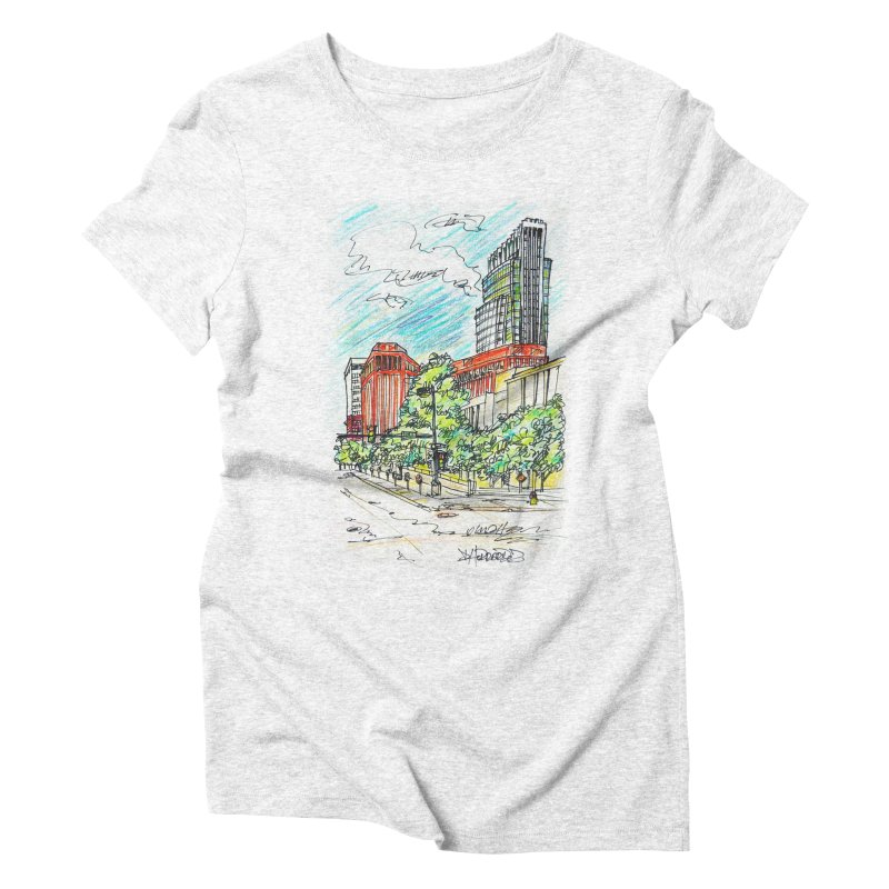 14th and Farnam Women's Triblend T-shirt by Brick Alley Studio's Artist Shop