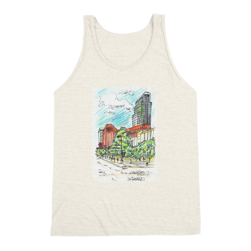 14th and Farnam Men's Triblend Tank by Brick Alley Studio's Artist Shop