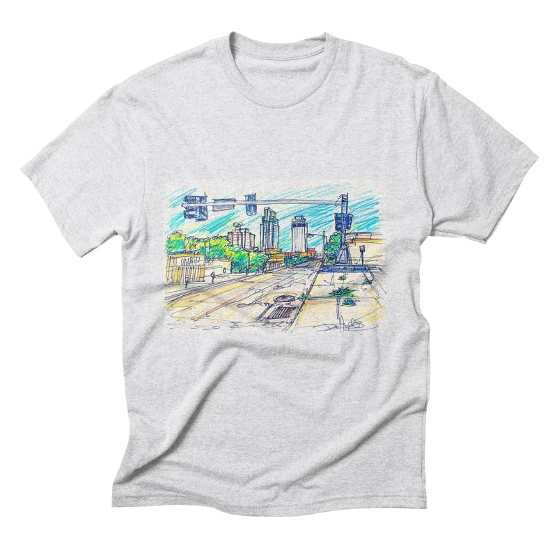 25th and Farnam Men's Triblend T-shirt by Brick Alley Studio's Artist Shop