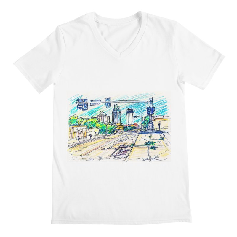 25th and Farnam Men's V-Neck by Brick Alley Studio's Artist Shop