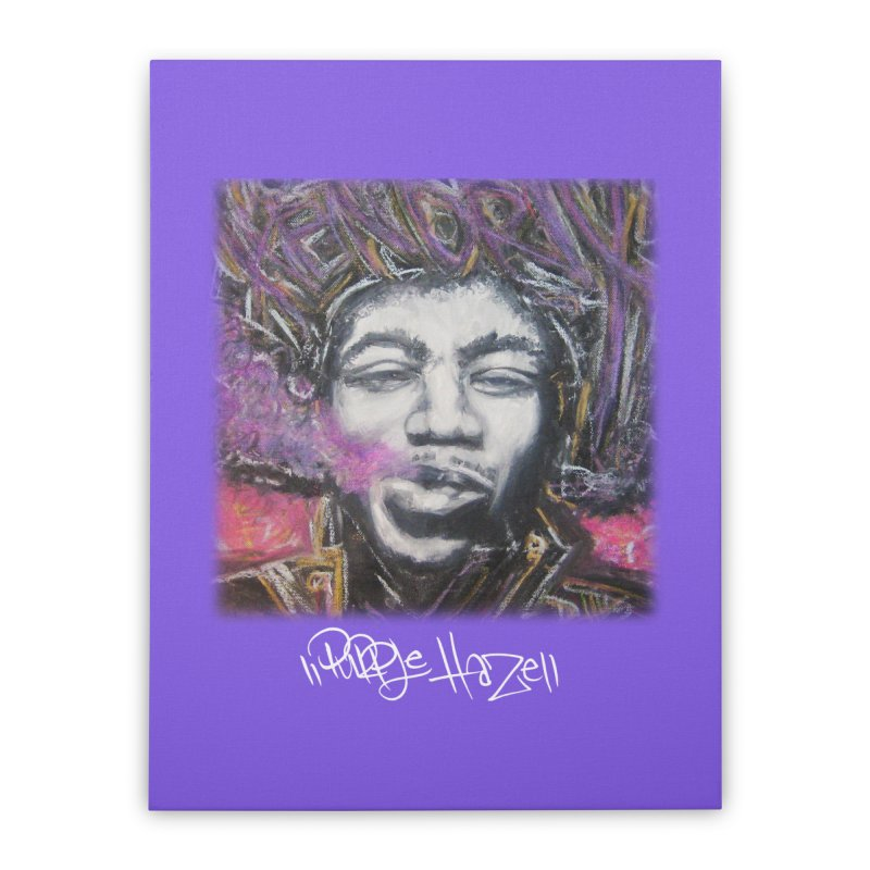 Purple Haze w tag Home Stretched Canvas by Brick Alley Studio's Artist Shop