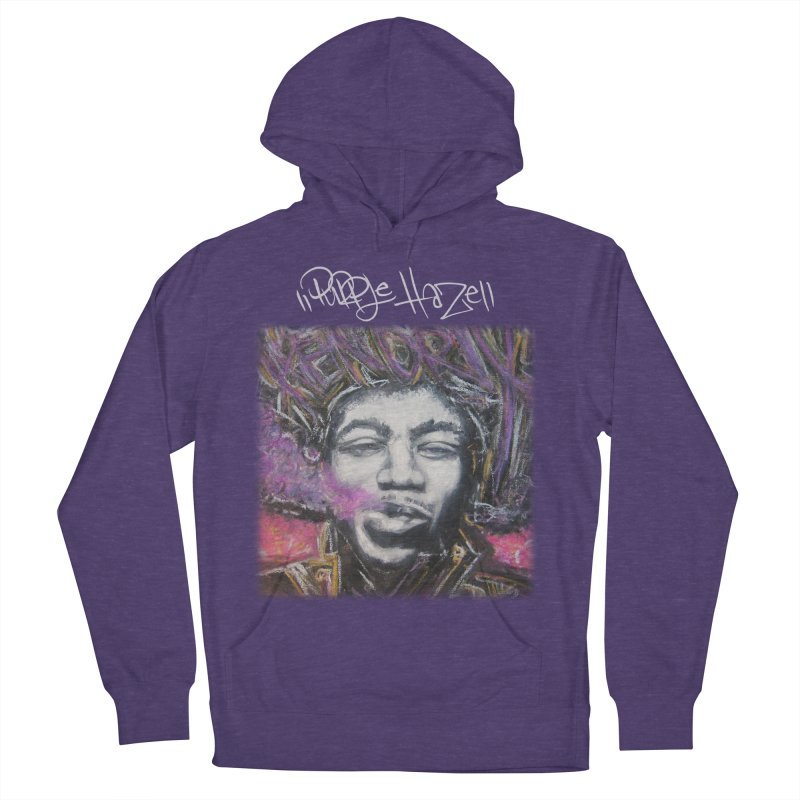 Purple Haze w tag Women's French Terry Pullover Hoody by Brick Alley Studio's Artist Shop