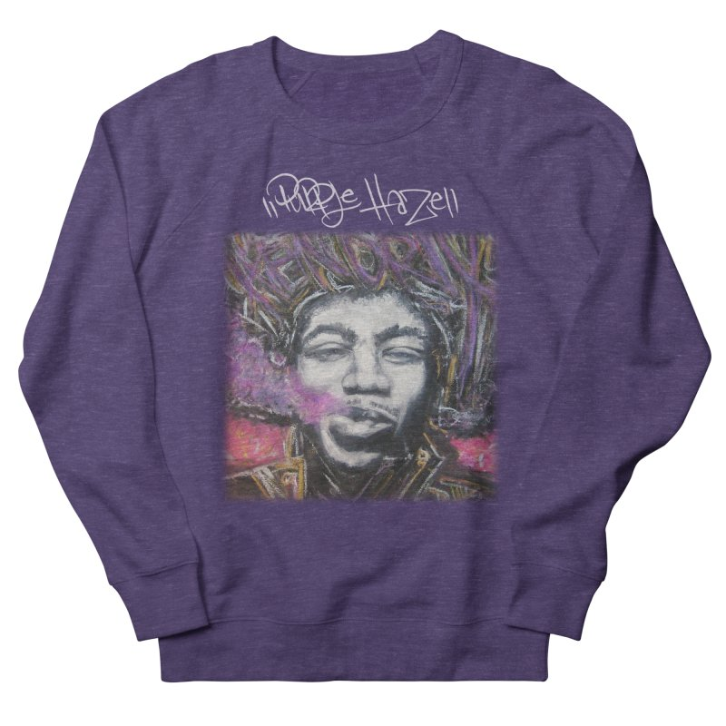 Purple Haze w tag in Men's French Terry Sweatshirt Heather Purple by Brick Alley Studio's Artist Shop