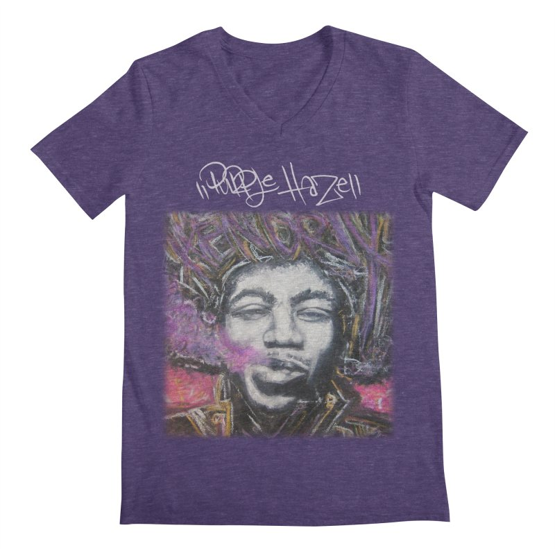 Purple Haze w tag Men's Regular V-Neck by Brick Alley Studio's Artist Shop