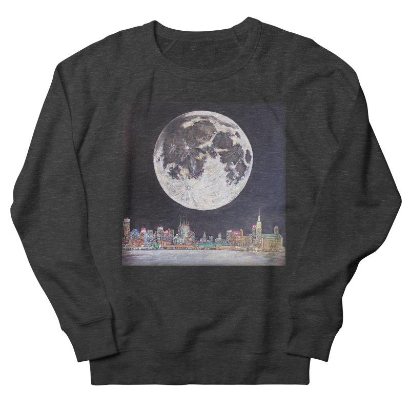 New York City Moon Women's Sweatshirt by Brick Alley Studio's Artist Shop
