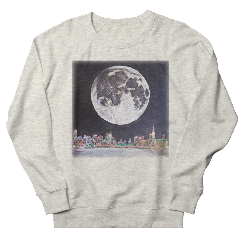 New York City Moon Women's Sweatshirt by Brick Alley Studio's Artist Shop