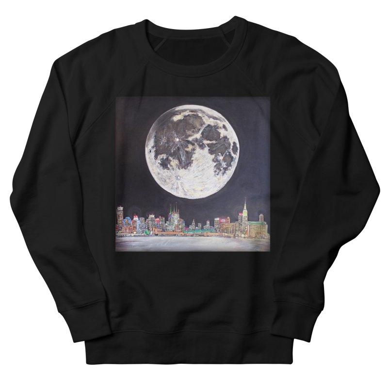 New York City Moon Men's Sweatshirt by Brick Alley Studio's Artist Shop