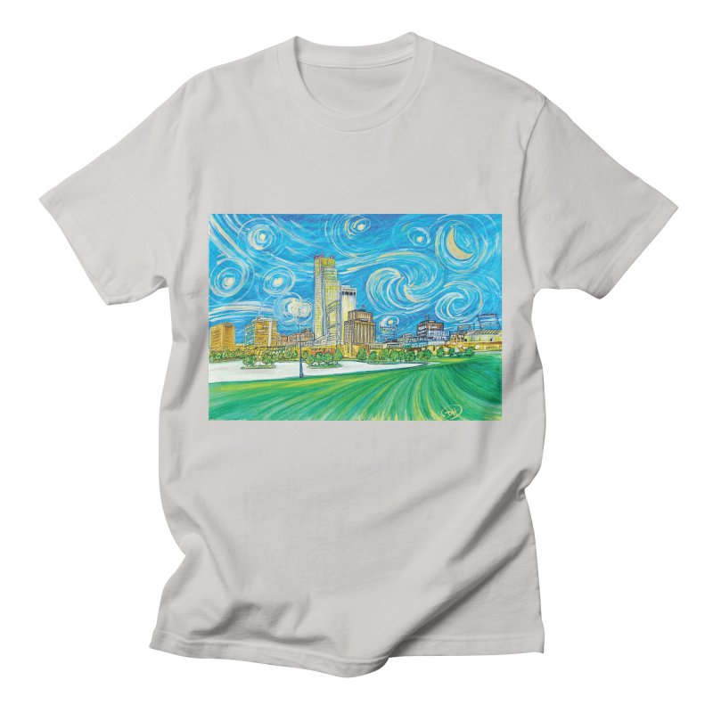 A Starry Night in Omaha Men's T-Shirt by Brick Alley Studio's Artist Shop