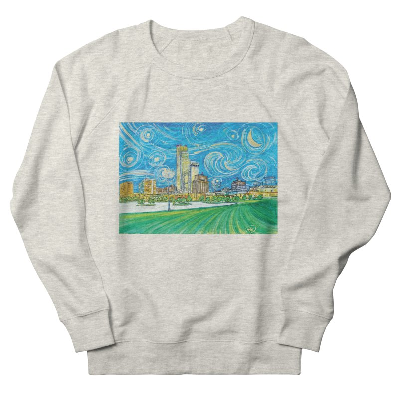A Starry Night in Omaha Women's French Terry Sweatshirt by Brick Alley Studio's Artist Shop