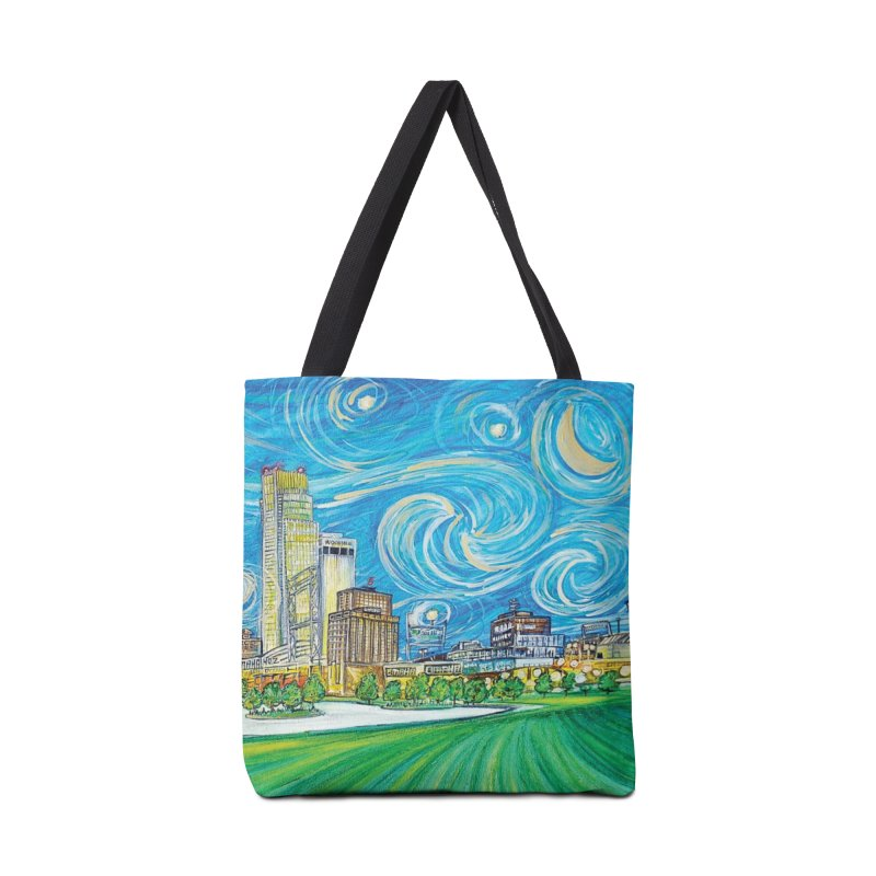 A Starry Night in Omaha Accessories Bag by Brick Alley Studio's Artist Shop