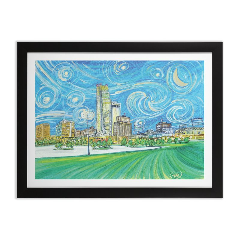 A Starry Night in Omaha Home Framed Fine Art Print by Brick Alley Studio's Artist Shop
