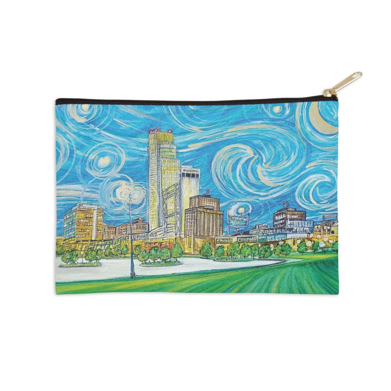 A Starry Night in Omaha Accessories Zip Pouch by Brick Alley Studio's Artist Shop