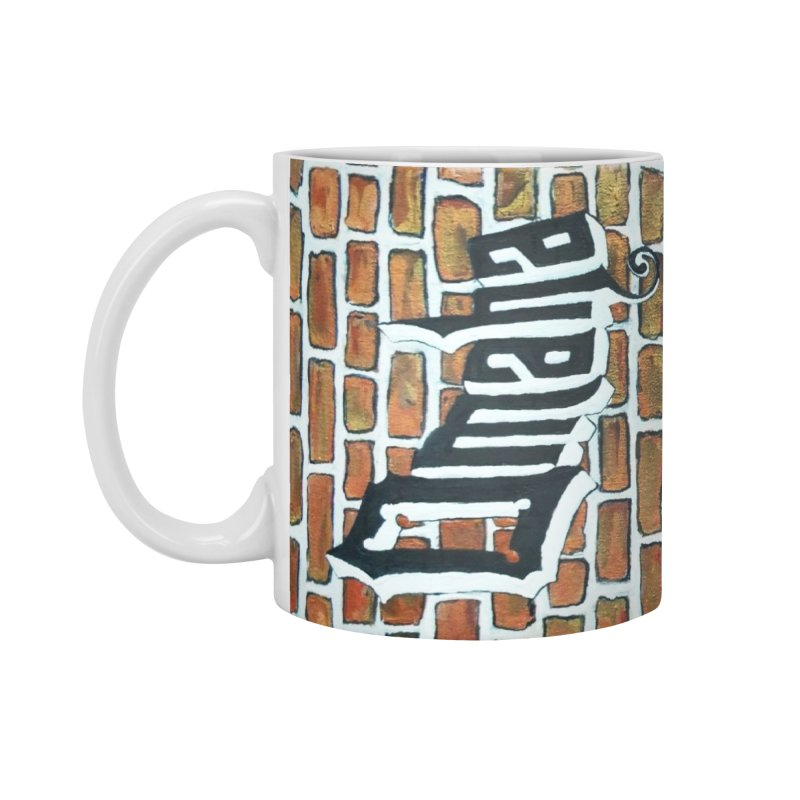 Omaha Brick Painting Mug Accessories  by Brick Alley Studio's Artist Shop