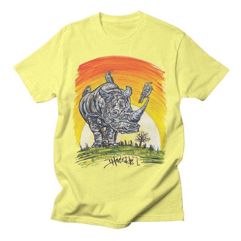 Three Little Birds Men's T-Shirt by Brick Alley Studio's Artist Shop