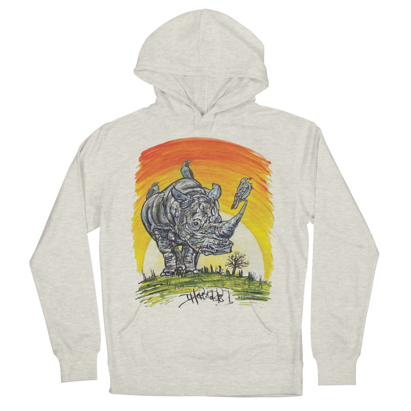 Three Little Birds Men's French Terry Pullover Hoody by Brick Alley Studio's Artist Shop