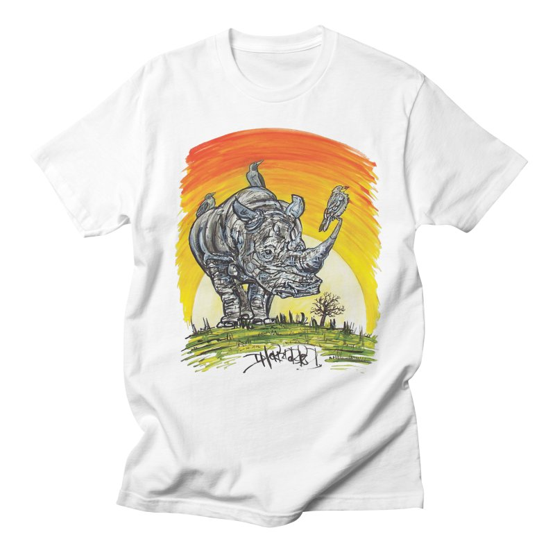 Three Little Birds Men's Regular T-Shirt by Brick Alley Studio's Artist Shop