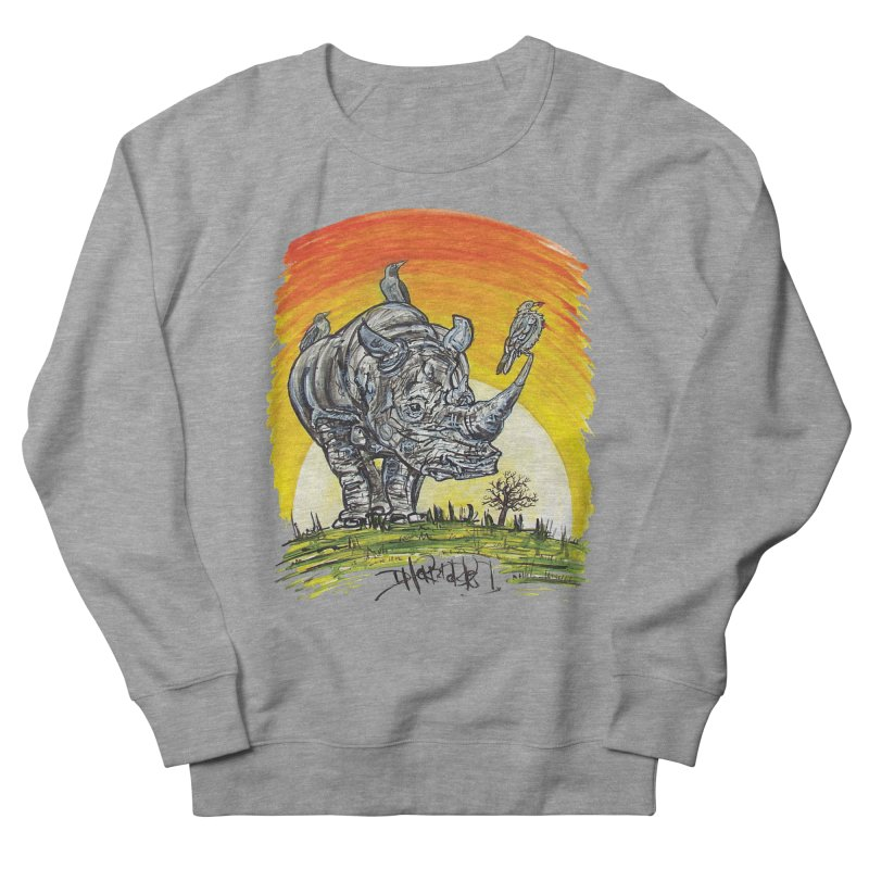 Three Little Birds Women's French Terry Sweatshirt by Brick Alley Studio's Artist Shop